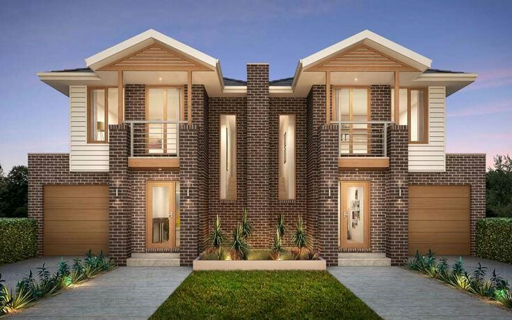 Two Y Duplex House With Hip Roof, Duplex Floor Plans With Double Garage Australia